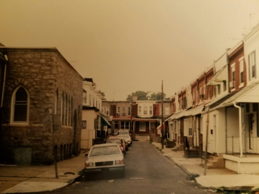 "SW Philly, circa 1995. ""Streets where feet are always dirty and tears sting, where each drop of sweat has a purpose and every smile is a slice of heaven."""