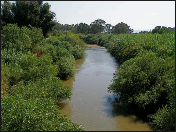 The Jordan River in Palestine (ht here)